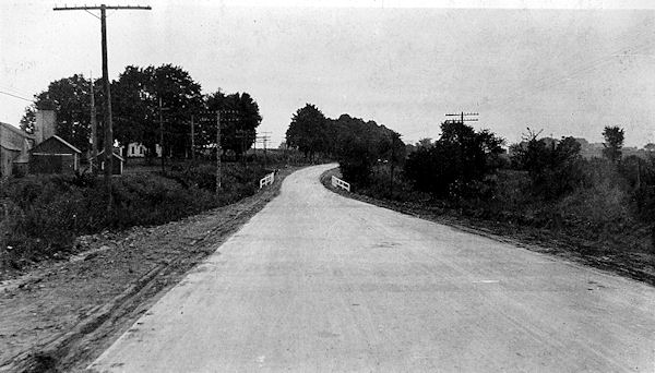 This image is of the road after paving.   Image courtesy of the Regional History Center at Northern Illinois University.