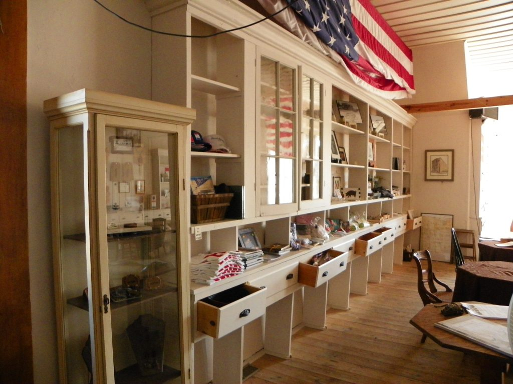 Lincoln Highway merchandise in cabinets and drawers